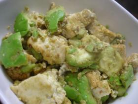 アボカド豆腐のチャンプルー
