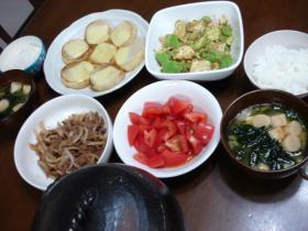 ある日の我が家の晩御飯