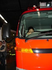 消防車に乗ってみたよ