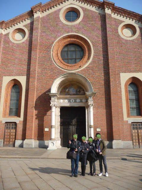 2010年3月14日(日)サンタマリアデッレグラッツエ教会(最後の晩餐の描かれる教会) (14)