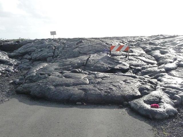 昨日から動いてル溶岩