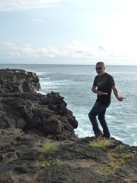 ハワイ州最南端に立つ男