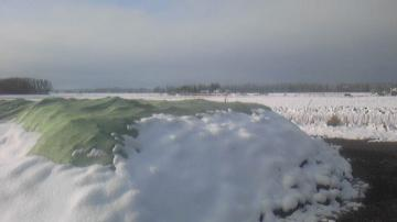 ビートパイルに降雪