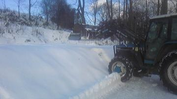 積雪のビートパイル