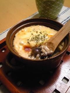お豆腐ソースのきのこグラタン