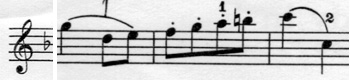 0melodyin F staccato
