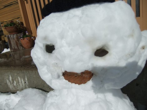 微笑みの雪ダルさん