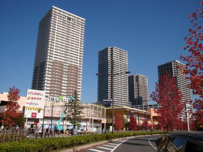 再開発で建設された高層マンション群