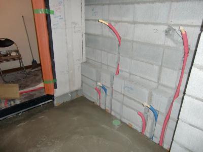 ほていやの浴室移設工事