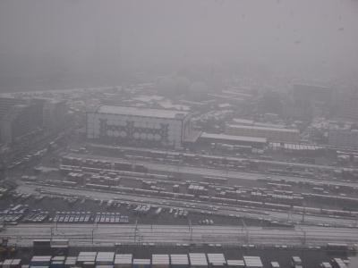 南千住からの雪景色