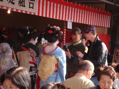 Geisya Cafe の外国人観光客