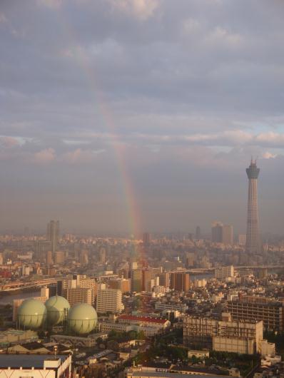 虹と東京スカイツリー