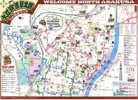 浅草北部マップ