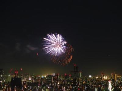 高層住宅から見た隅田川花火大会 ②