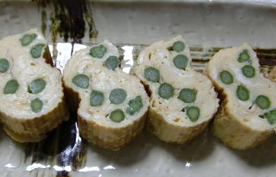 アスパラ卵焼き1