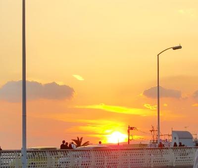 11.3江の島の夕日