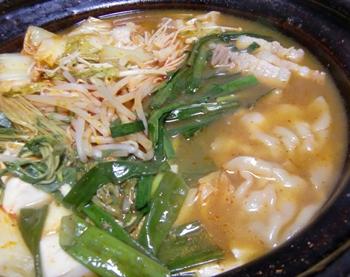 キムチ鍋ー4