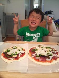 ピザ準備完了