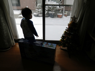 雪景色のクリスマス