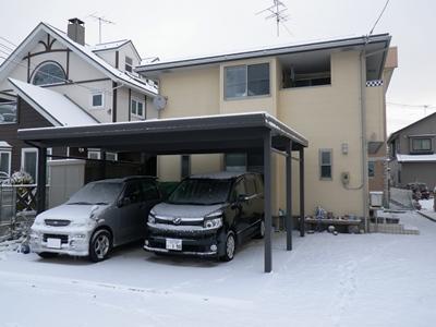 雪かきするほどでは