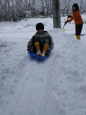 兄も滑ります