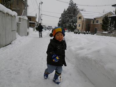 雪投げま~す