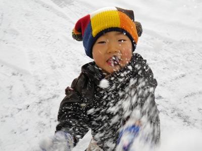 雪をイエイ