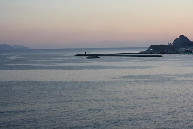 ロビーから眺めた屋久島