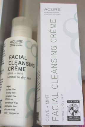 Acure Organics, Facial Cleansing Cream, Olive + Mint, Normal to Dry Skin