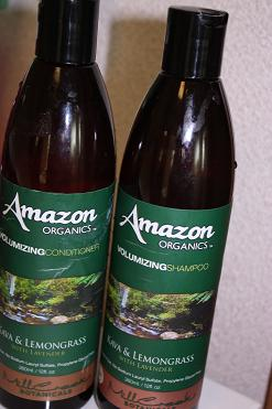 Amazon Organics, Volumizing Shampoo, Kava & Lemongrass, with Lavender, 12 fl oz (360 ml)
