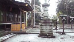 雪と桜。。風流です。。