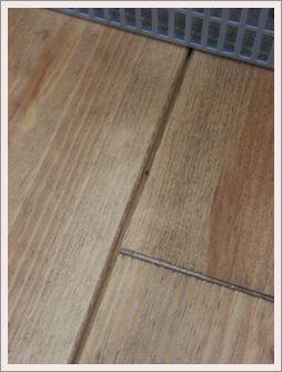 蓄熱前の床3mm引き