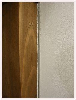 蓄熱暖房横の壁