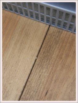 蓄熱前の床1mm引き