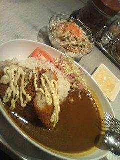 白身魚のフライカレー\(o⌒∇⌒o)/