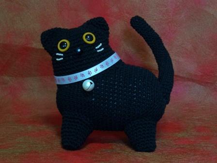 あみぐるみ 黒猫 (サスケちゃん)