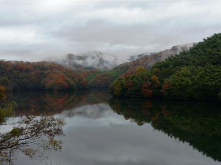石手川ダムの紅葉