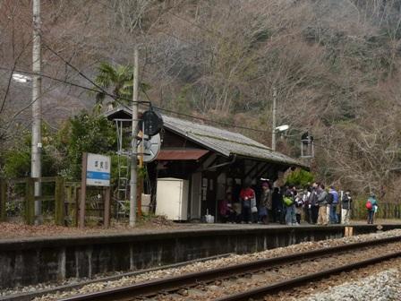 坪尻駅 ホーム