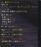 赤い鷹目のライフル+9