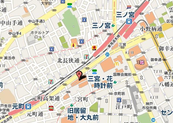 センタープラザ周辺地図