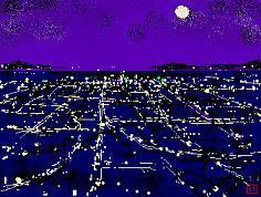 夜景のイラスト