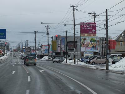 秋田市新国道沿いB面遠目