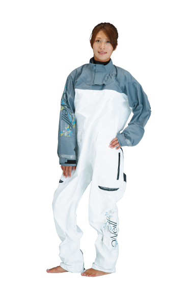 VAPOR LIGHT DRYSUITSⅠWOMEN'S ホワイト/ダークグレイ FRONT