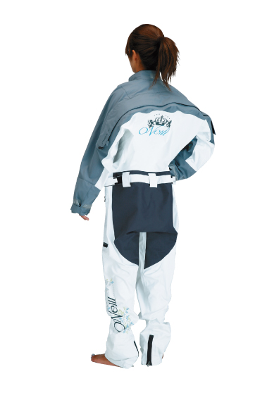 VAPOR LIGHT DRYSUITSⅠWOMEN'S ホワイト/ダークグレイ BACK
