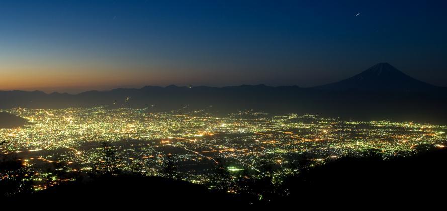 甘利山の夜景-(53)