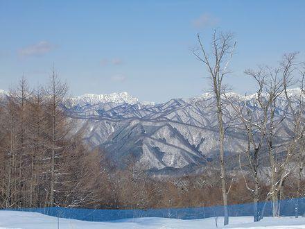 きぬがわ高原から見る山並