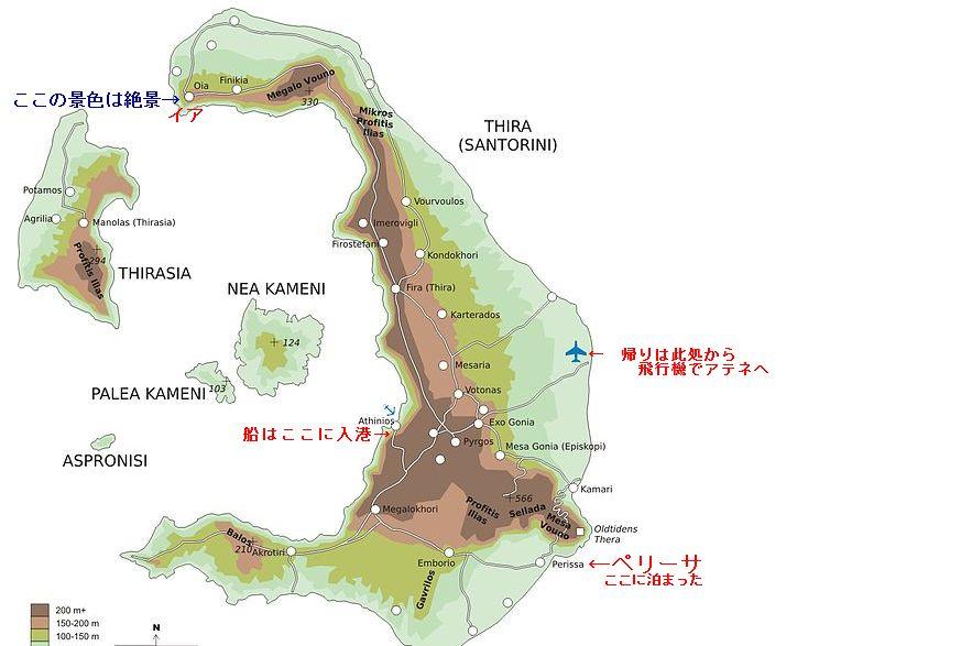 サントリーニの地図1