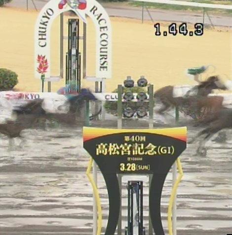 第40回高松宮記念のゴール板3/6中京9R