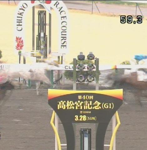 第40回高松宮記念のゴール板3/7中京5R