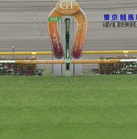 第15回NHKマイルカップのゴール板(5月7日(金)14:00収録)